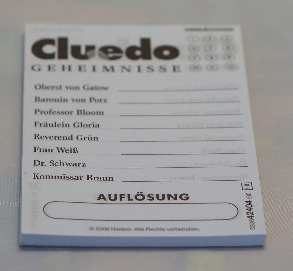 Cluedo Notizblock